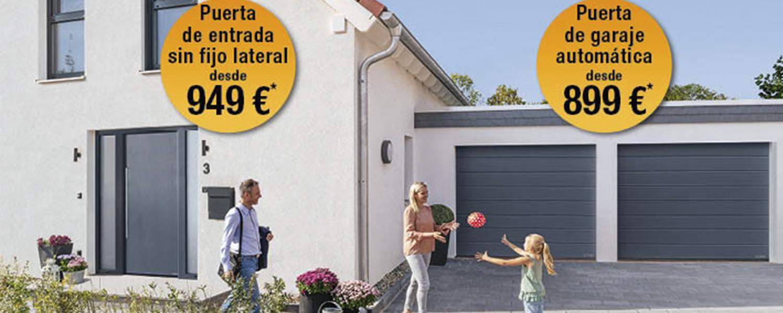 puertas de entrada y garaje automatizadas